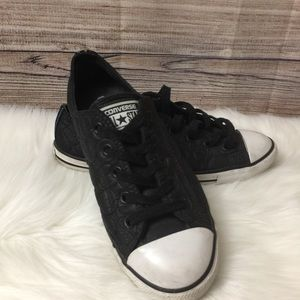 Converse All Stars⭐️Quilted Black Sneakers